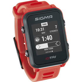 SIGMA SPORT iD.TRI Multi-Sport Watch Set neon red